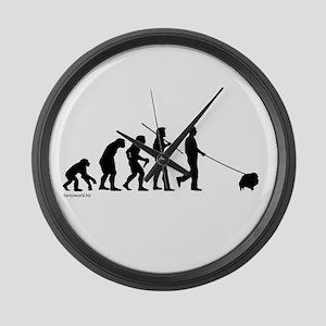 Pom Evolution Large Wall Clock