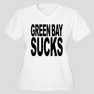 Green Bay Sucks Women's Plus Size V-Neck T-Shirt