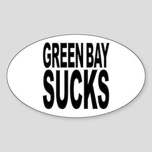 Green Bay Sucks Oval Sticker