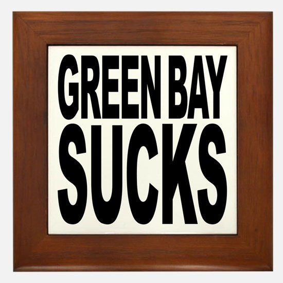 Green Bay Sucks Framed Tile
