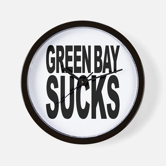 Green Bay Sucks Wall Clock