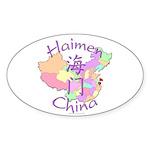 Haimen China Oval Sticker (10 pk)