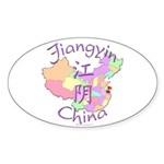 Jiangyin China Oval Sticker