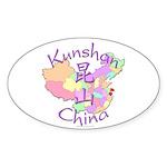Kunshan China Oval Sticker (10 pk)