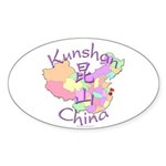 Kunshan China Oval Sticker (10 pk)