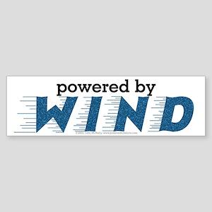 Powered By Wind Bumper Sticker