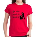 He Who Smelt It Dealt It Women's Dark T-Shirt