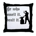 He Who Smelt It Dealt It Throw Pillow