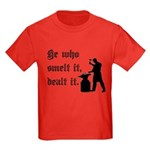 He Who Smelt It Dealt It Kids Dark T-Shirt