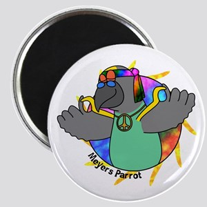 Hippie Meyers Parrot Magnet