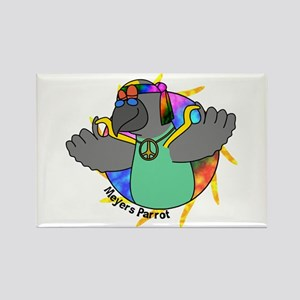 Hippie Meyers Parrot Rectangle Magnet