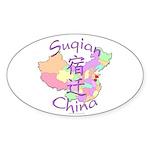 Suqian China Oval Sticker (10 pk)