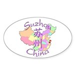 Suzhou China Oval Sticker (10 pk)