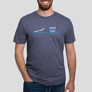 Swim Dad (girl) blue suit Black T-Shirt