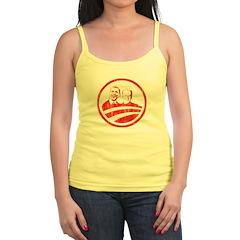 Obama Biden (red vintage face Jr.Spaghetti Strap