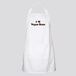 I Love Vegan Boys BBQ Apron