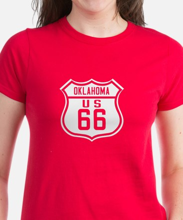 Route 66 Old Style - OK Women's Dark T-Shirt