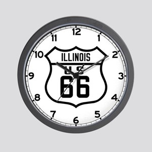 Route 66 Old Style - IL Wall Clock