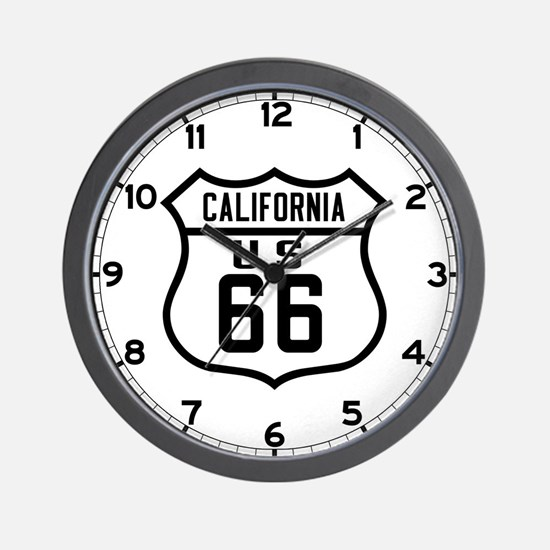 Route 66 Old Style - CA Wall Clock