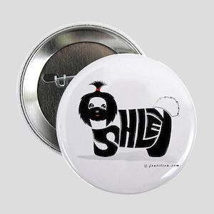 "Asley (Black Shihtzu Dog) 2.25"" Button"