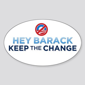 Keep the Change Oval Sticker