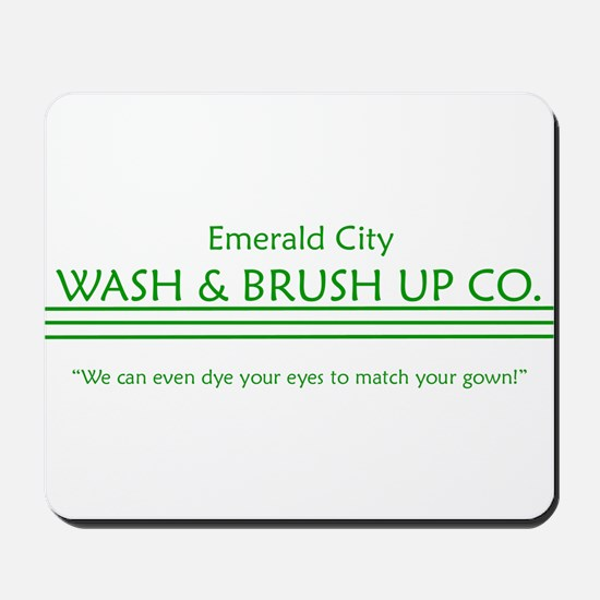 emerald city wash and brush u Mousepad