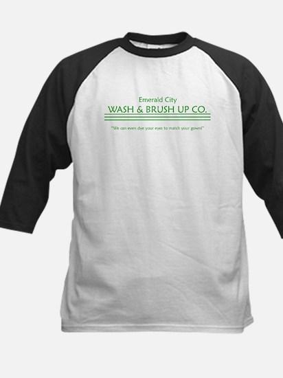 emerald city wash and brush u Kids Baseball Jersey
