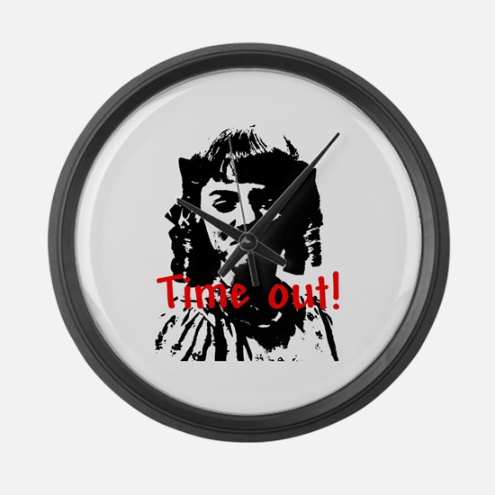 Time Out! Large Wall Clock