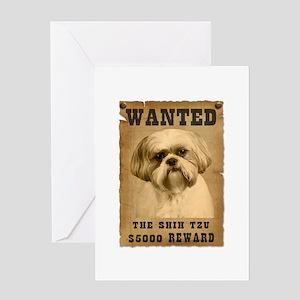 """Wanted""Shih Tzu Greeting Card"