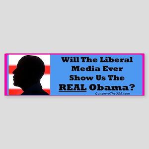 """The Liberal Media"" Bumper Sticker"