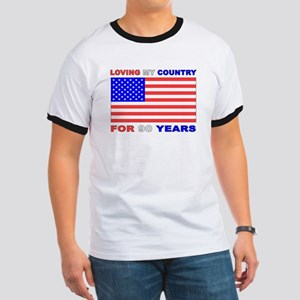 Patriotic 90th Birthday Ringer T