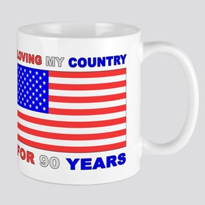 Patriotic 90th Birthday Mug