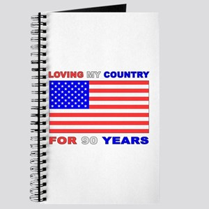 Patriotic 90th Birthday Journal