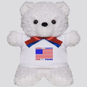 Patriotic 90th Birthday Teddy Bear