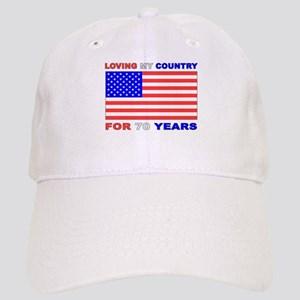 Patriotic 70th Birthday Cap