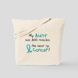 Big Muscles 1.1 TEAL (Aunt) Tote Bag
