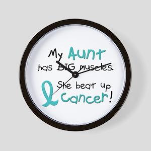 Big Muscles 1.1 TEAL (Aunt) Wall Clock