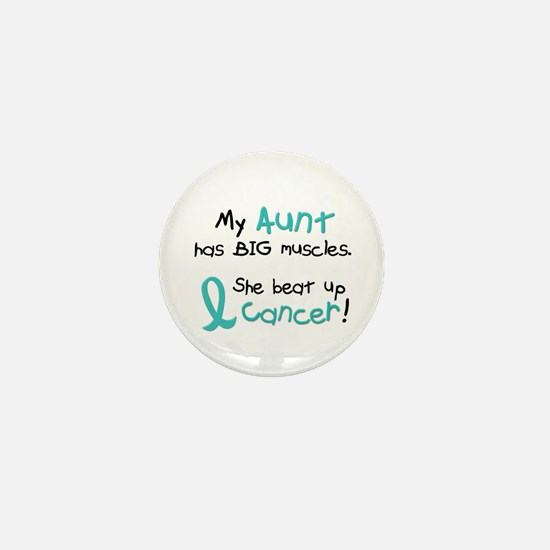 Big Muscles 1.1 TEAL (Aunt) Mini Button