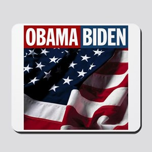 Obama-Biden American Flag Mousepad