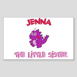 Jenna - Dinosaur Sister Rectangle Sticker