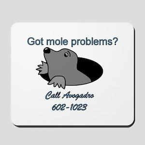 Mole Problems Mousepad