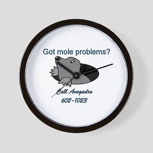 Mole Problems Wall Clock