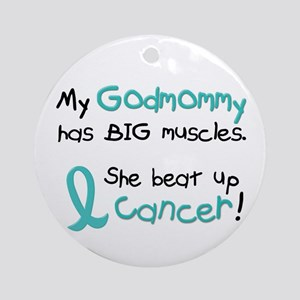 Big Muscles 1.1 TEAL (Godmommy) Ornament (Round)