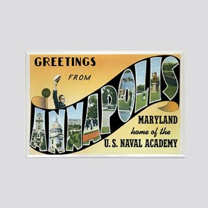 Annapolis Maryland MD Rectangle Magnet