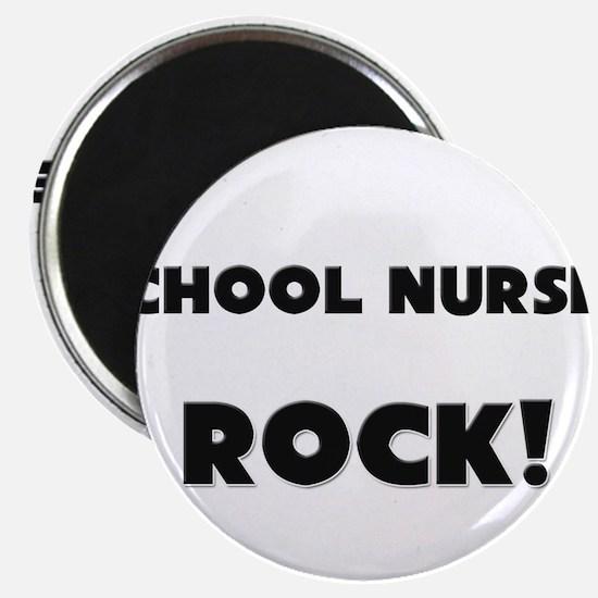 """School Nurses ROCK 2.25"""" Magnet (10 pack)"""