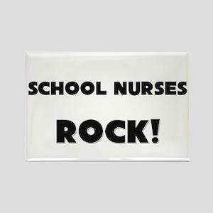 School Nurses ROCK Rectangle Magnet