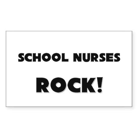 School Nurses ROCK Rectangle Sticker