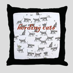 Generic Herding Cats Throw Pillow