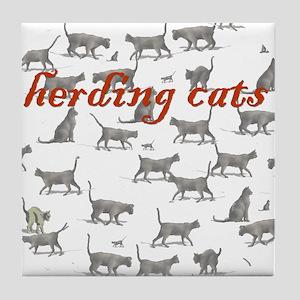 Generic Herding Cats Tile Coaster