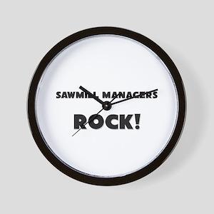 Sawmill Managers ROCK Wall Clock